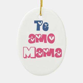Te Amo Mama Ceramic Oval Ornament