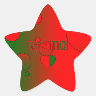 Te Amo! Portugal Flag Colors Pop Art Star Sticker