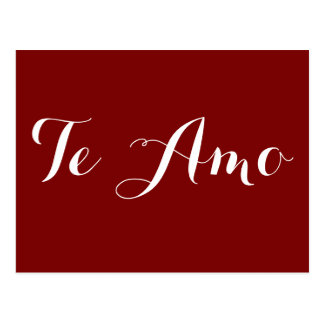 Te Amo Postcard