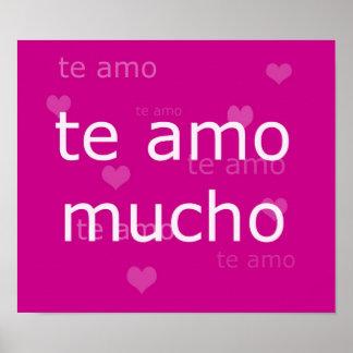 Te Amo, poster