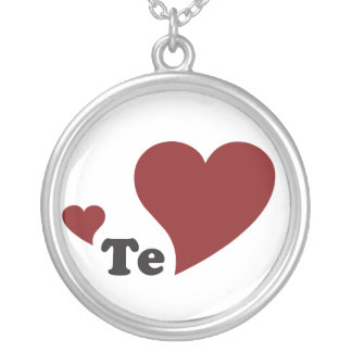 te amo silver plated necklace