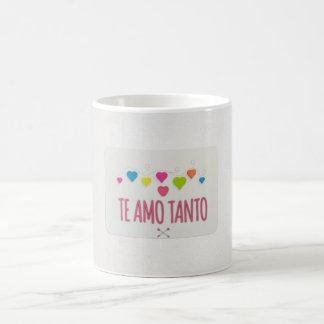 """""""Te Amo Tanto"""" With Hearts On Coffee Mug"""