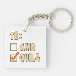 Te Amo Tequila Spanish Choice Keychain
