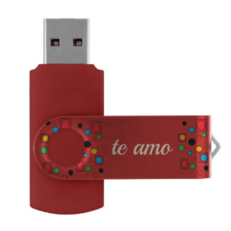 te amo USB by DAL USB Flash Drive