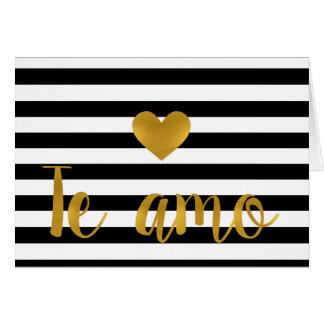 Te amo- Valentine card- Dia de los enamorados Card