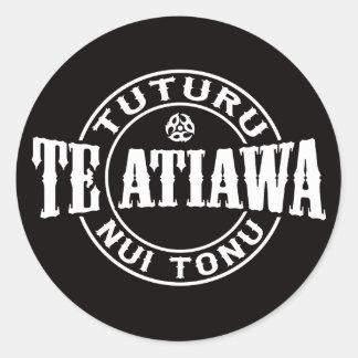 Te Atiawa Tuturu Nui Tonu Round Sticker
