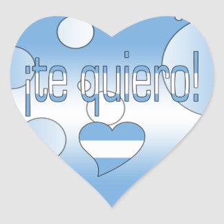 ¡Te Quiero! Argentina Flag Colors Pop Art Heart Sticker