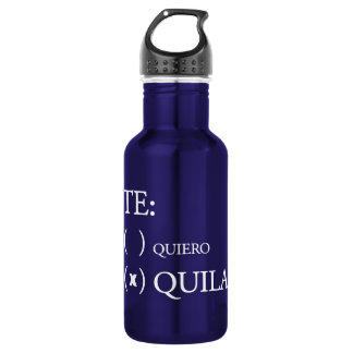Te Quiero Tequila 532 Ml Water Bottle