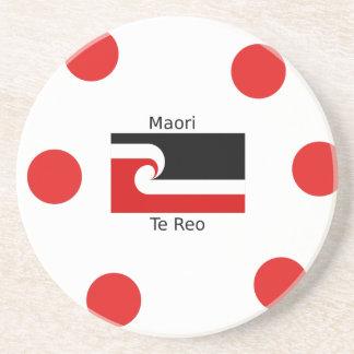 Te Reo Language And Maori Flag Design Coaster
