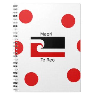 Te Reo Language And Maori Flag Design Notebook