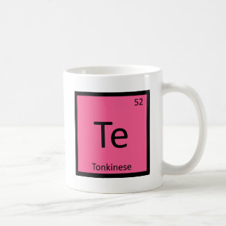 Te - Tonkinese Cat Chemistry Periodic Table Symbol Coffee Mug