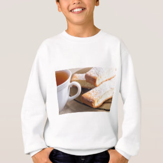 Tea and a plate of fresh biscuits sweatshirt