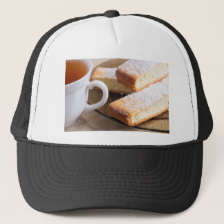 Tea and a plate of fresh biscuits trucker hat