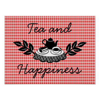 Tea and Happiness Poster