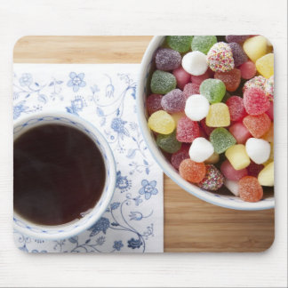 Tea and Jelly Candies Mouse Pad