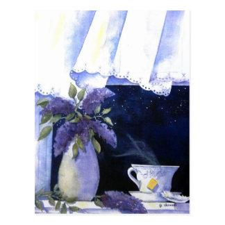 Tea and Lilacs Postcard