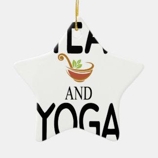 Tea And Yoga Ceramic Star Ornament