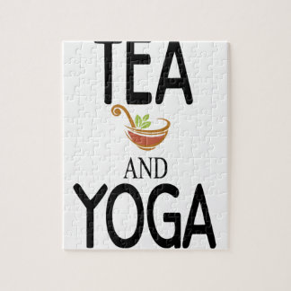 Tea And Yoga Jigsaw Puzzle