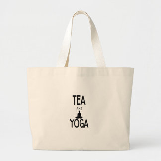 Tea And Yoga Large Tote Bag