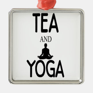 Tea And Yoga Metal Ornament
