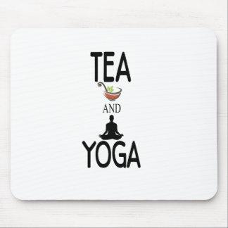 Tea And Yoga Mouse Pad