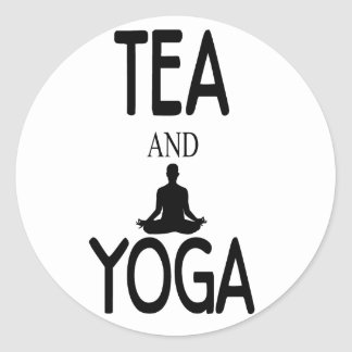 Tea And Yoga Round Sticker