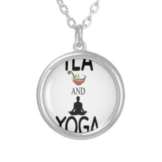 Tea And Yoga Silver Plated Necklace