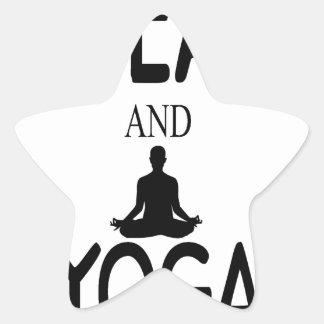 Tea And Yoga Star Sticker