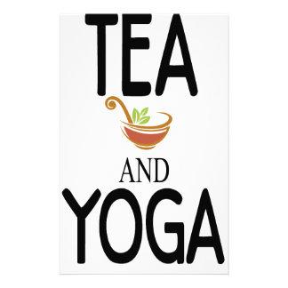 Tea And Yoga Stationery