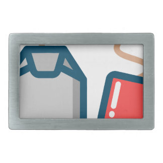 Tea Bag Rectangular Belt Buckle