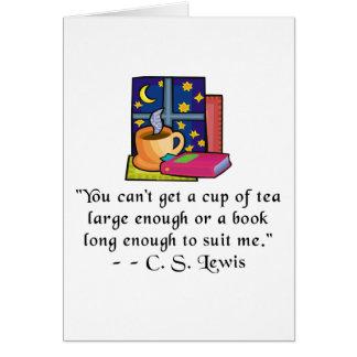 Tea & Books w Quote Notecard