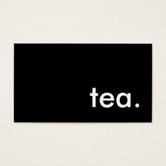 tea. business card