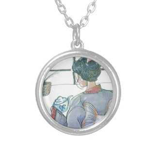 Tea Ceremonial Silver Plated Necklace