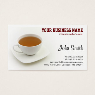 Tea Cup Business Card