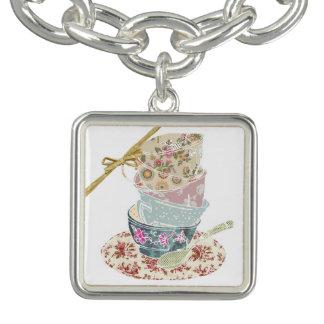 Tea Cup Charm Braclet