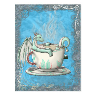 Tea Cup Dragons: Peppermint Postcard