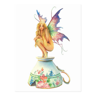 """Tea-Cup Fairy"" By Scot Howden Postcard"