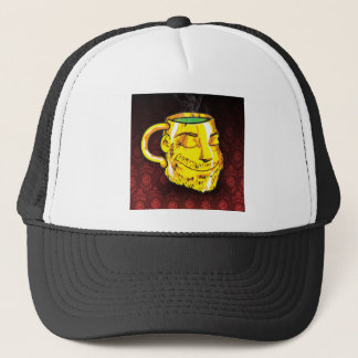 tea cup trucker hat