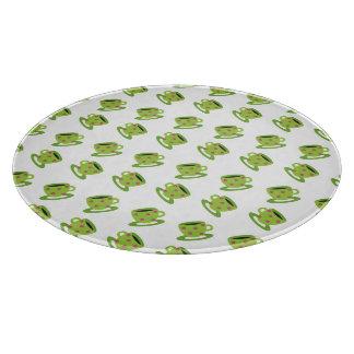 Tea Cup white Cutting Board