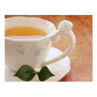 Tea cup with mint postcard
