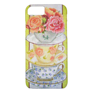 Tea cups and Roses iPhone 7 Case