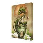 Tea Dragon 8x10 Canvas Print
