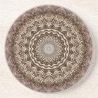 Tea Dyed Mandala Coaster