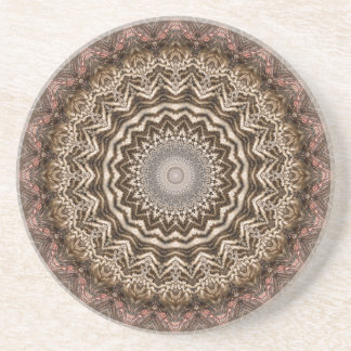 Tea Dyed Mandala Coaster