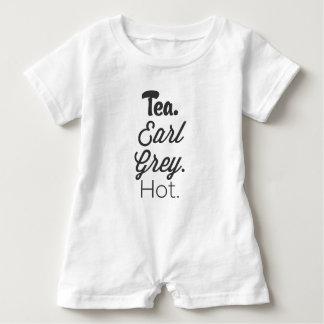 Tea, Early Grey, Hot. Baby Romper