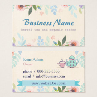 Tea Floral Business Card
