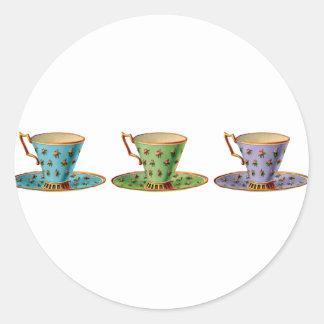 Tea for Three Round Sticker