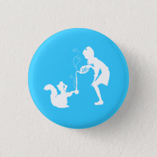Tea for two. 1 inch round button