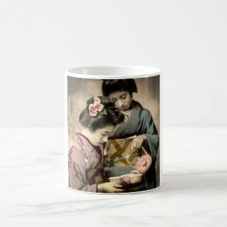 Tea for Two Geisha in Old Japan Vintage Japanese Coffee Mug