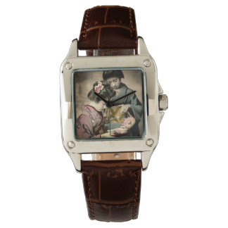 Tea for Two Geisha in Old Japan Vintage Japanese Watch